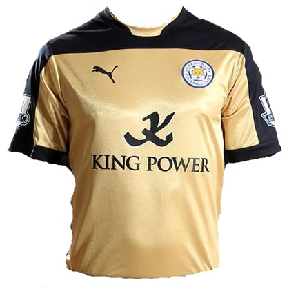 Leicester City Third 2014/2015 Football Shirt Manufactured By Puma. The Club Plays Football In England.