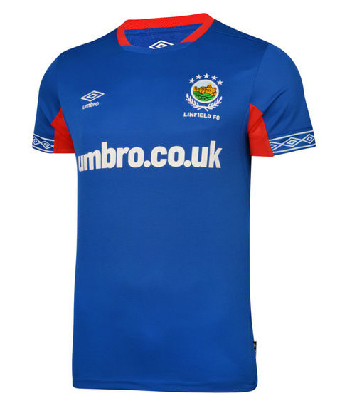 Linfield Home 2020/2021 Football Shirt Manufactured By Umbro. The Club Plays Football In Northern Ireland.