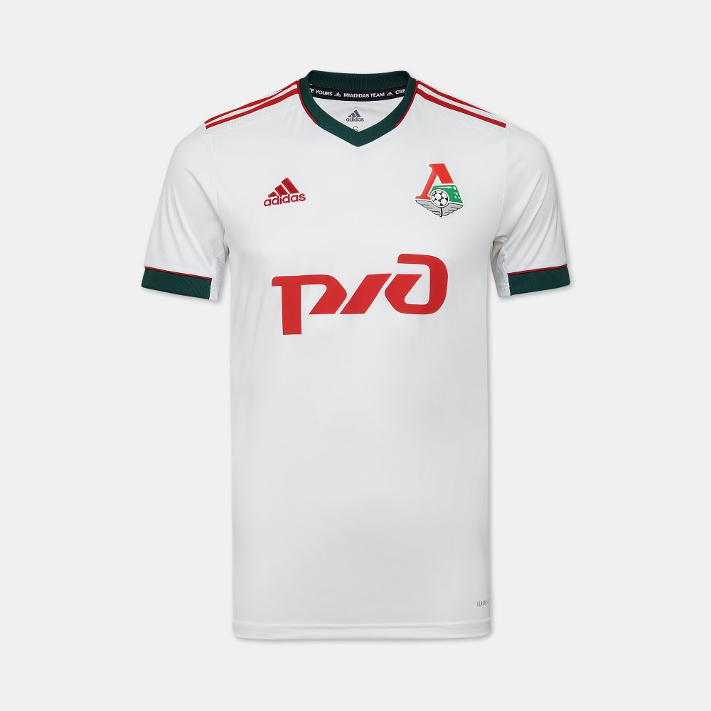 Lokomotiv Away 2020/2021 Football Shirt Manufactured By Adidas. The Club Plays Football In Russia.
