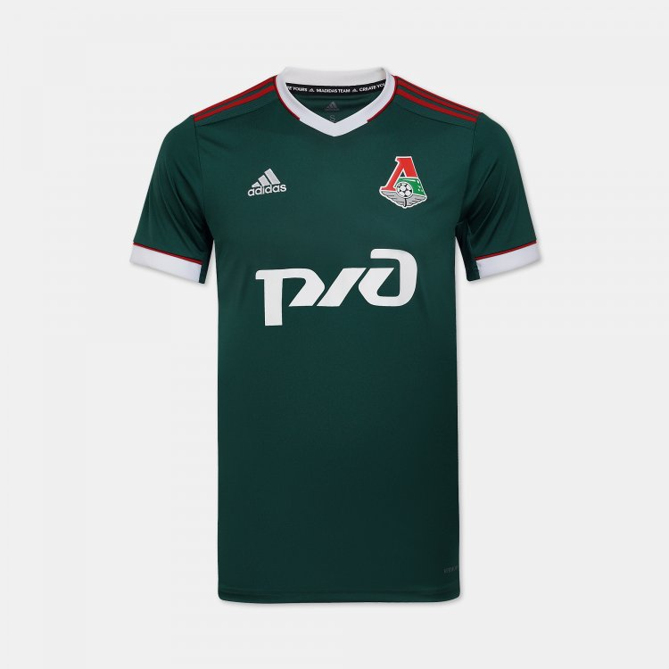 Lokomotiv Home 2020/2021 Football Shirt Manufactured By Adidas. The Club Plays Football In Russia.
