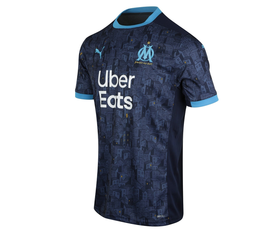 Marseille Away 2020/2021 Football Shirt Manufactured By Puma. The Club Plays Football In France.