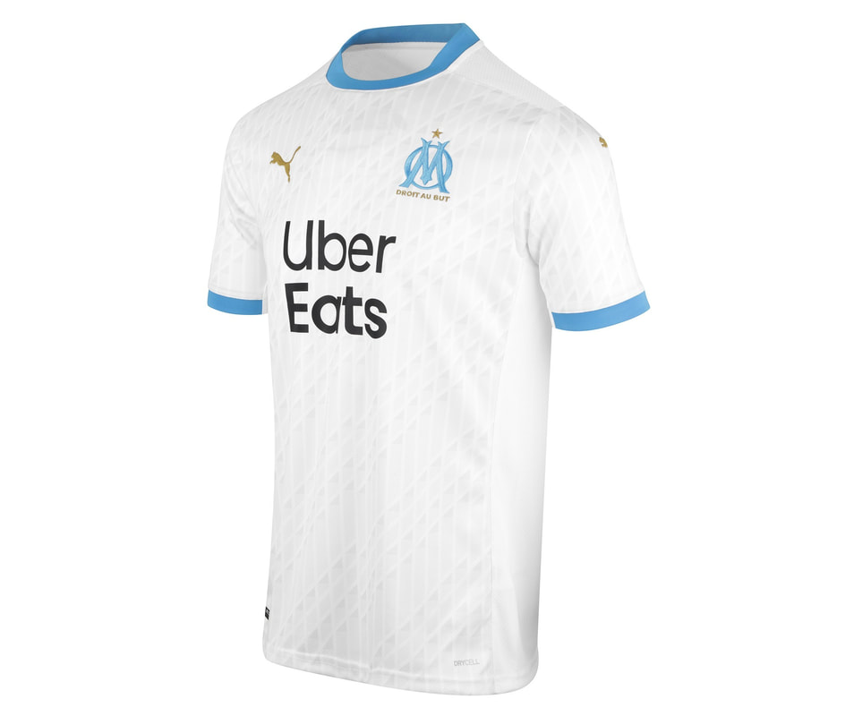 Marseille Home 2020/2021 Football Shirt Manufactured By Puma. The Club Plays Football In France.