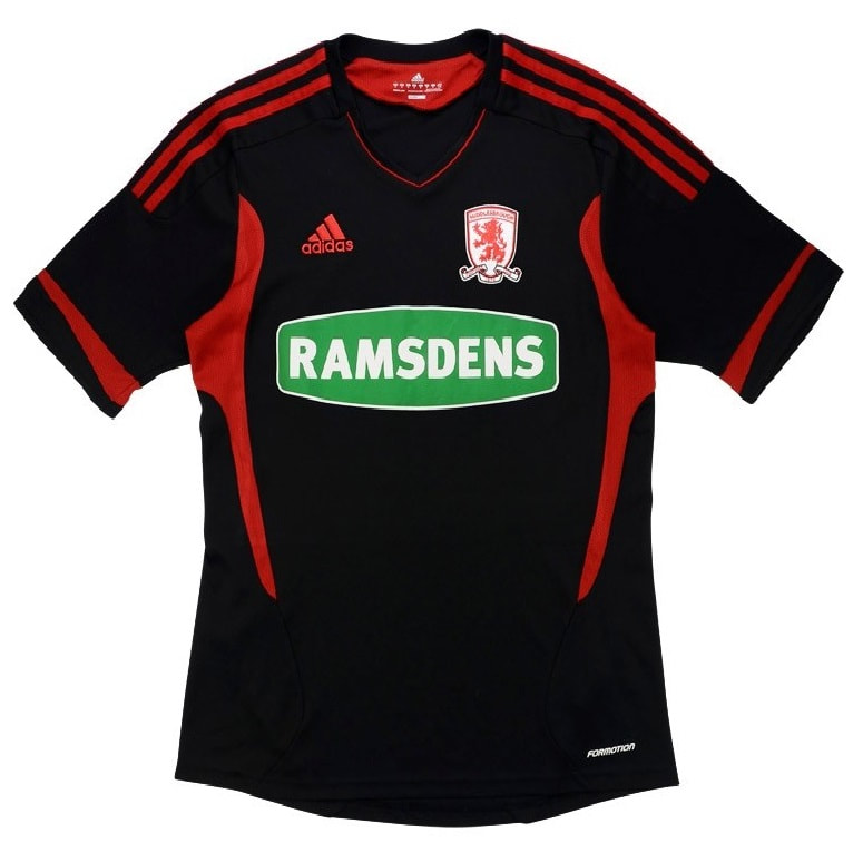 Middlesbrough Away 2011/2012 Football Shirt Manufactured By Adidas. The Club Plays Football In England.