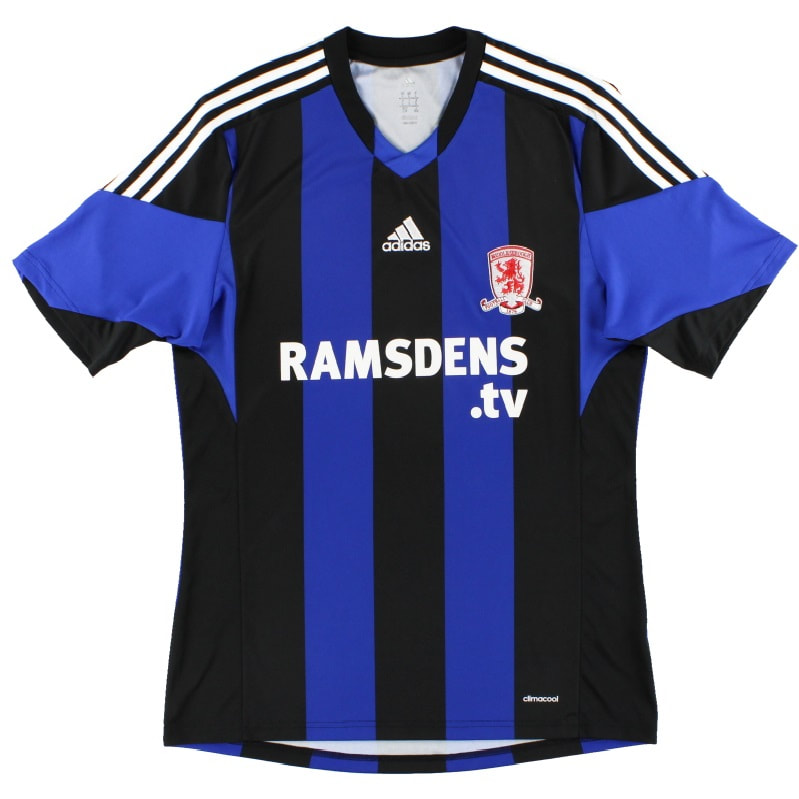 Middlesbrough Away 2013/2014 Football Shirt Manufactured By Adidas. The Club Plays Football In England.