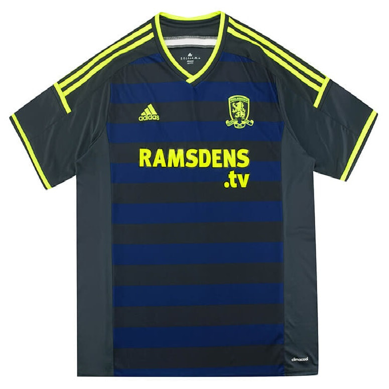 Middlesbrough Away 2014/2015 Football Shirt Manufactured By Adidas. The Club Plays Football In England.
