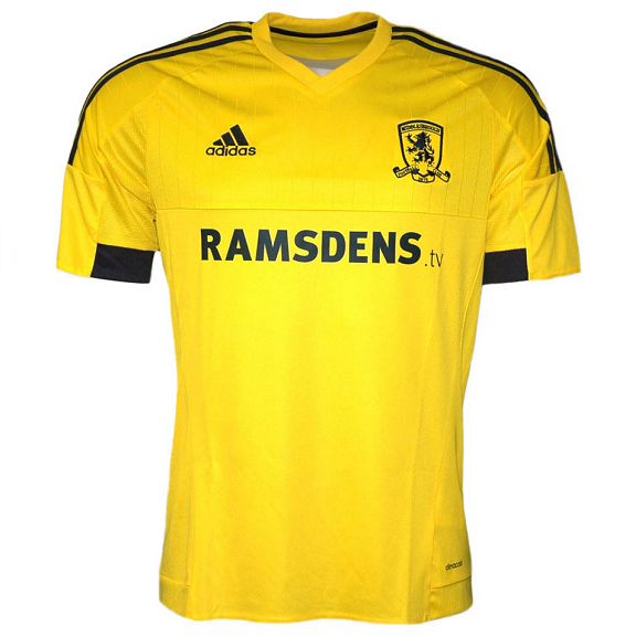 Middlesbrough Away 2015/2016 Football Shirt Manufactured By Adidas. The Club Plays Football In England.