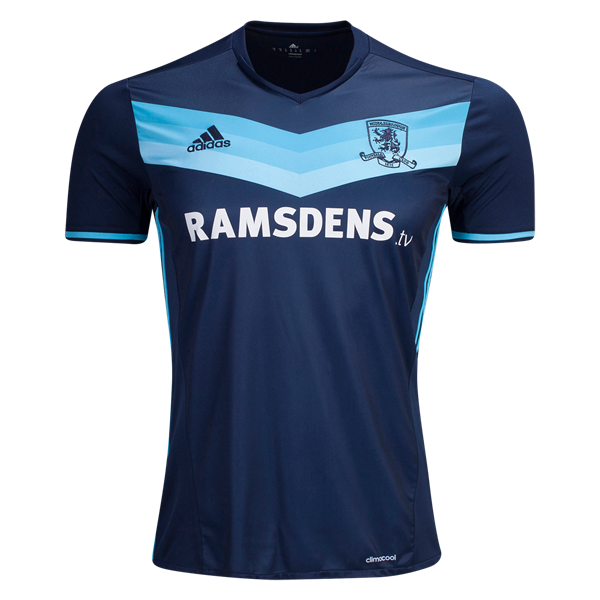 Middlesbrough Away 2016/2017 Football Shirt Manufactured By Adidas. The Club Plays Football In England.