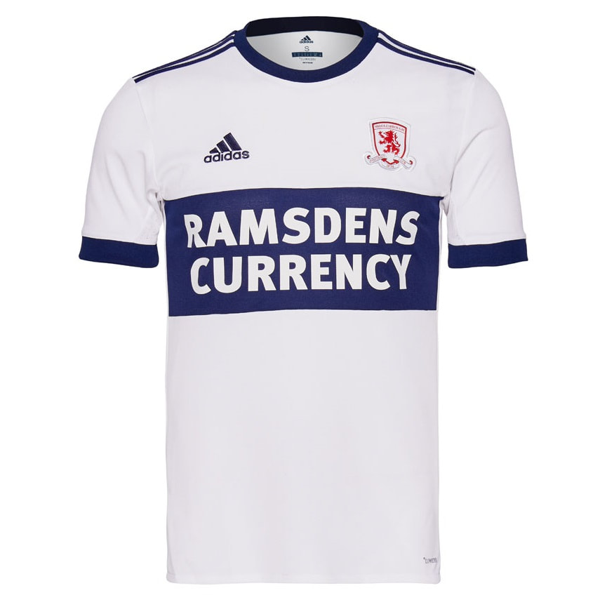 Middlesbrough Away 2017/2018 Football Shirt Manufactured By Adidas. The Club Plays Football In England.