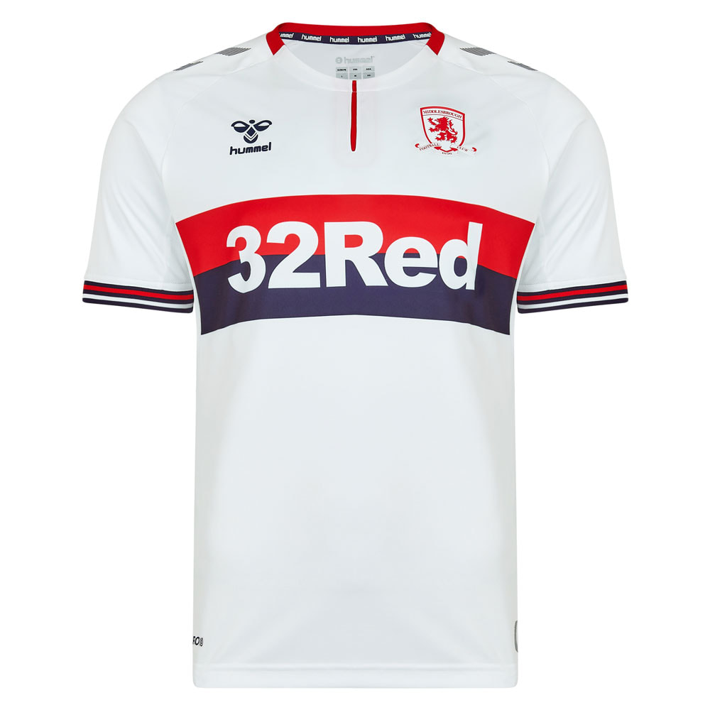 Middlesbrough Away 2019/2020 Football Shirt Manufactured By Hummel. The Club Plays Football In England.