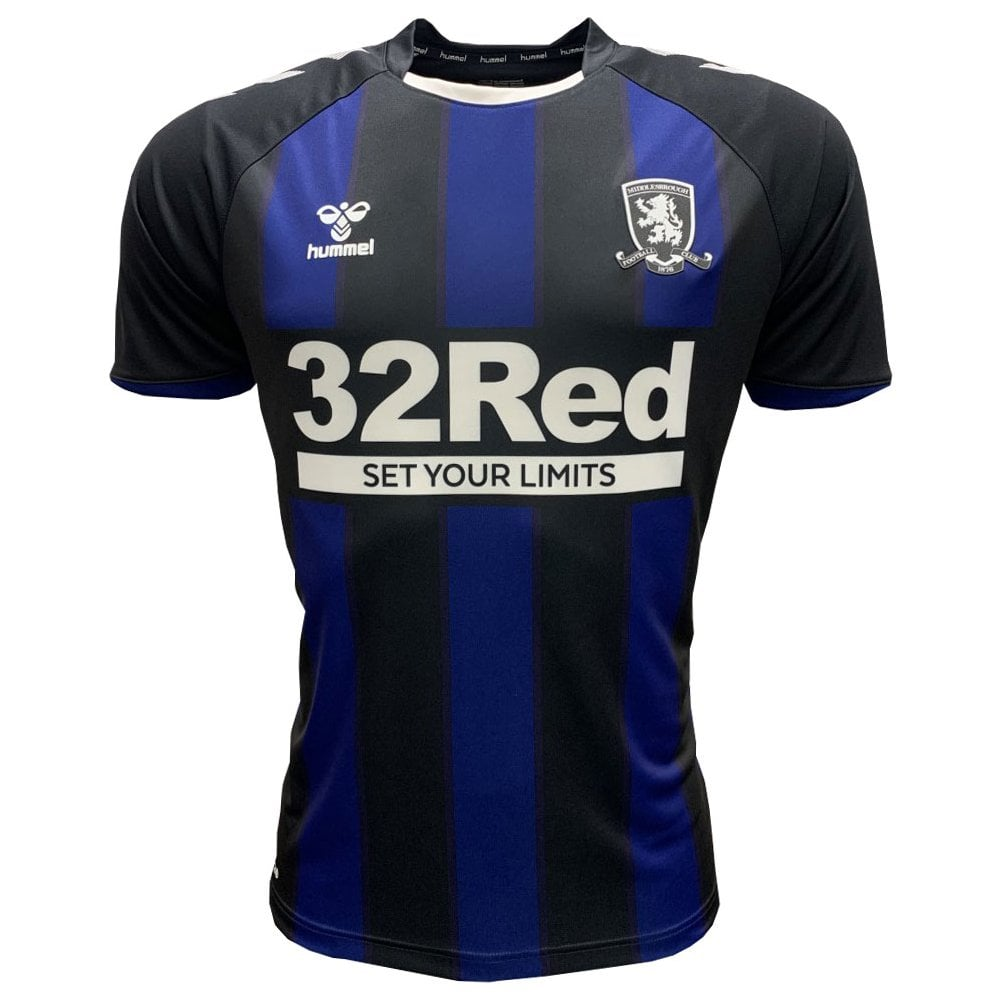 Middlesbrough Away 2020/2021 Football Shirt Manufactured By Hummel. The Club Plays Football In England.