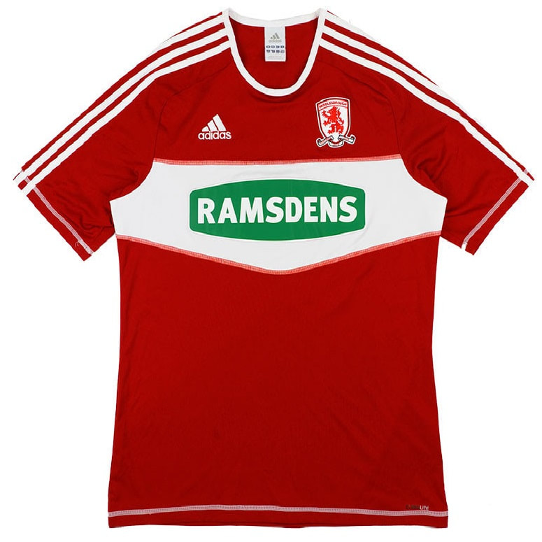 Middlesbrough Home 2012/2013 Football Shirt Manufactured By Adidas. The Club Plays Football In England.