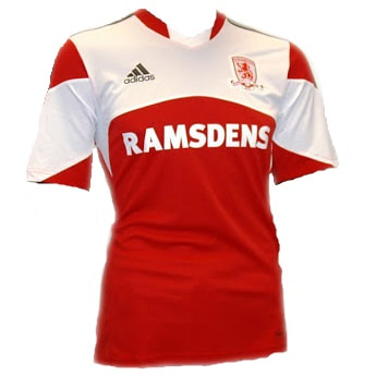 Middlesbrough Home 2013/2014 Football Shirt Manufactured By Adidas. The Club Plays Football In England.
