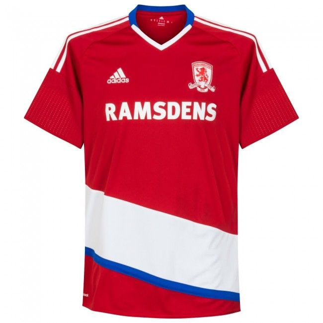 Middlesbrough Home 2016/2017 Football Shirt Manufactured By Adidas. The Club Plays Football In England.