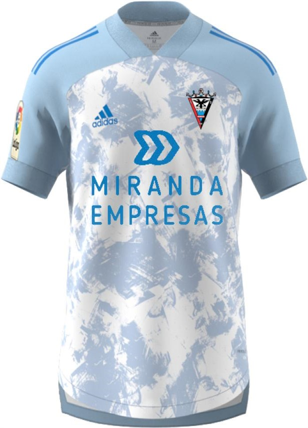 Mirandés Away 2020/2021 Football Shirt Manufactured By Adidas. The Club Plays Football In Spain.