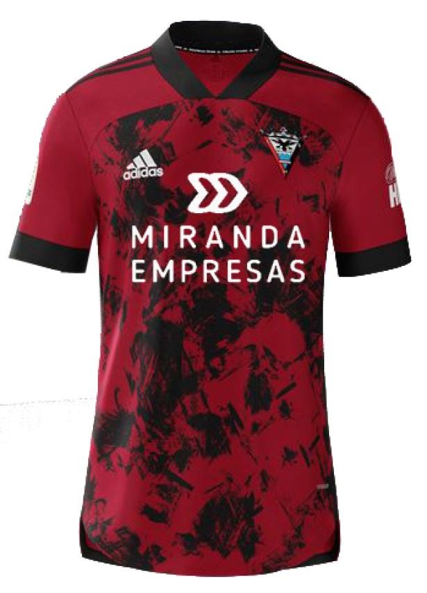 Mirandés Home 2020/2021 Football Shirt Manufactured By Adidas. The Club Plays Football In Spain.