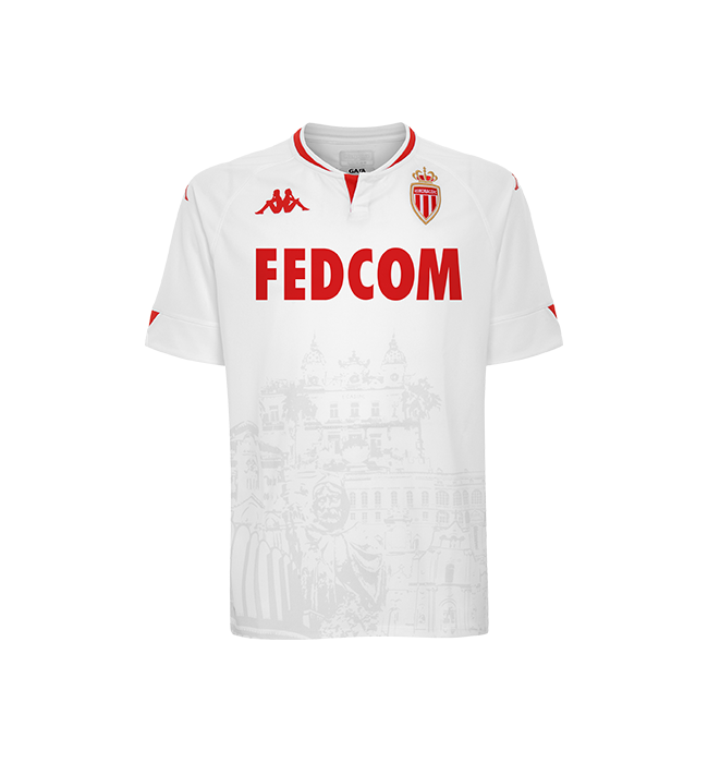 Monaco Third 2020/2021 Football Shirt Manufactured By Kappa. The Club Plays Football In France.