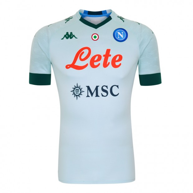 Napoli Away 2020/2021 Football Shirt Manufactured By Kappa. The Club Plays Football In Italy.