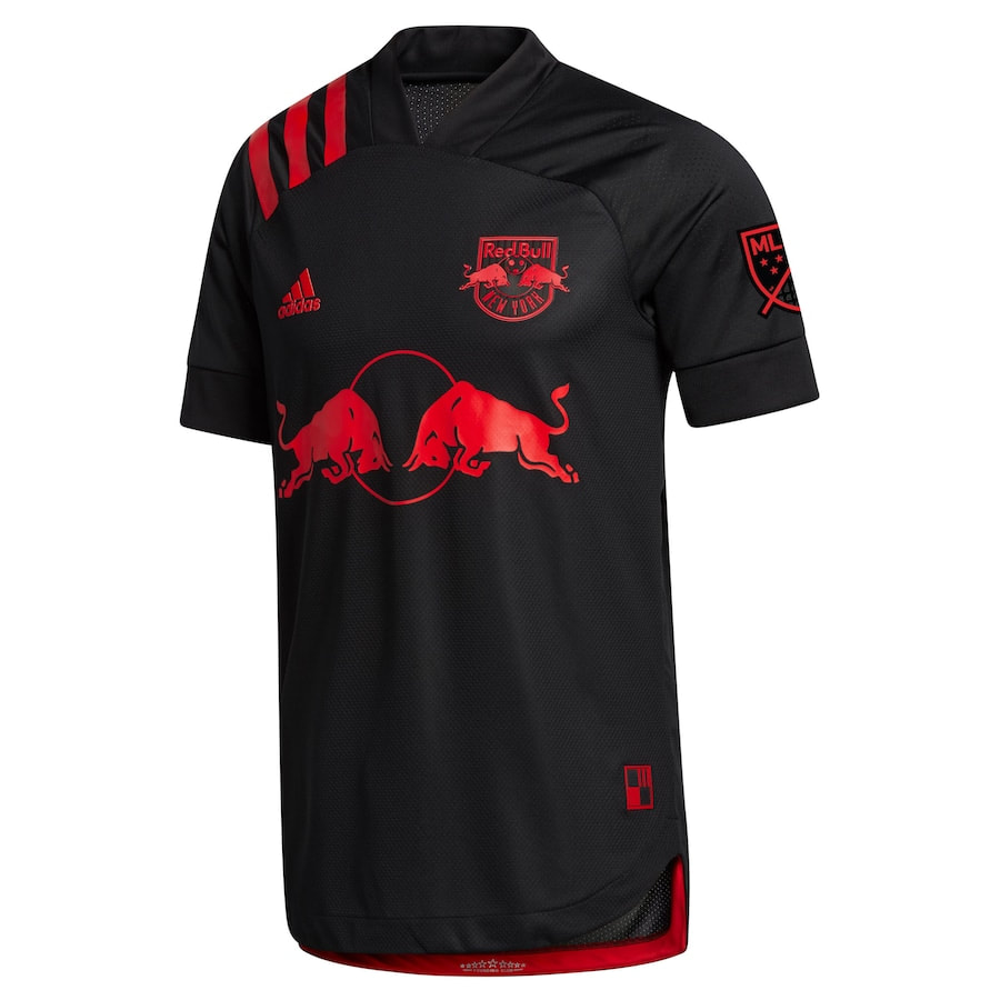 New York Red Bulls Away 2020 Football Shirt. The shirt is manufactured by Adidas and the club plays in MLS.