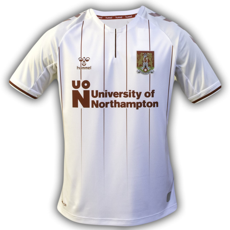 Northampton Town Away 2020/2021 Football Shirt Manufactured By Hummel. The Club Plays Football In England.