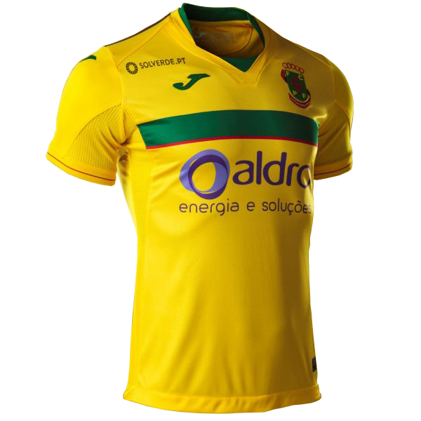 Paços de Ferreira Home 2020/2021 Football Shirt Manufactured By Joma. The Club Plays Football In Portugal.