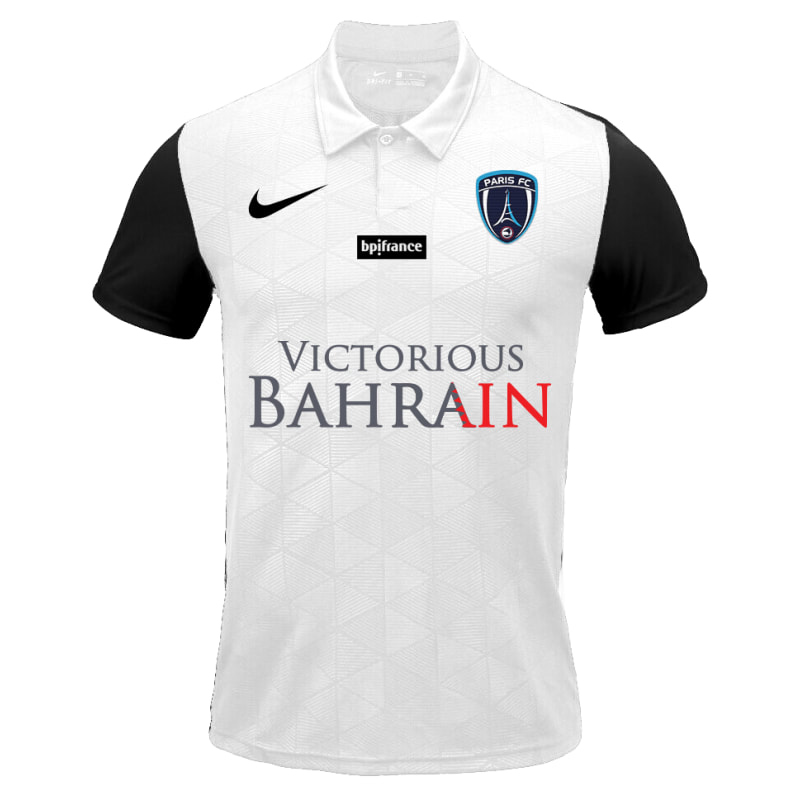 Paris FC​​​​ Away 2020/2021 Football Shirt Manufactured By Nike. The Club Plays Football In France.