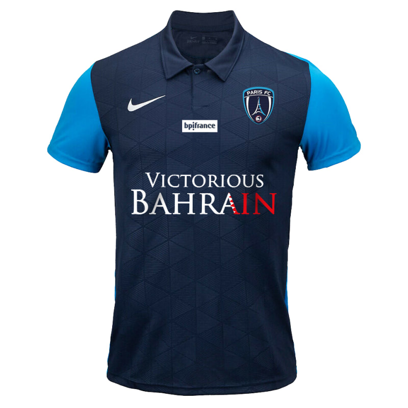 Paris FC​​​​ Home 2020/2021 Football Shirt Manufactured By Nike. The Club Plays Football In France.