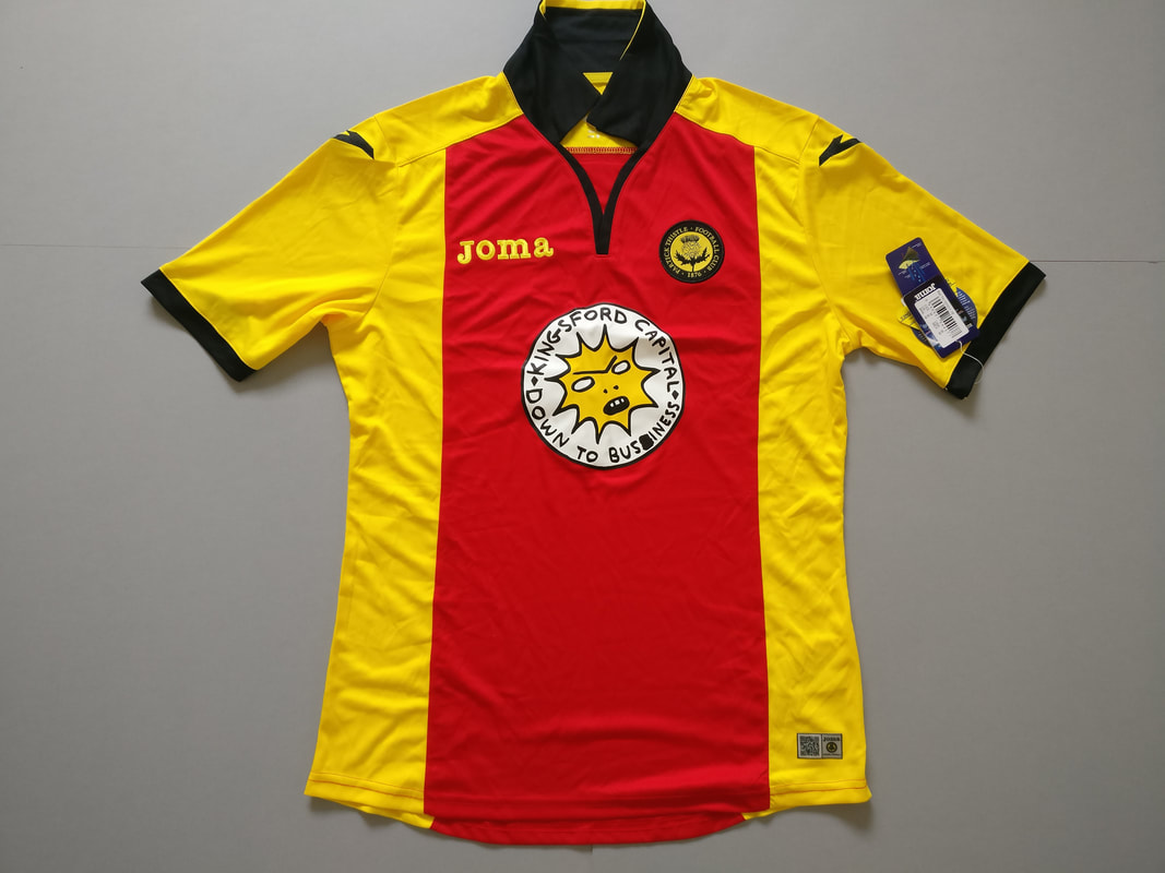 Partick Thistle F.C. Home 2016/2017 Football Shirt Manufactured By Joma. The Club Plays Football In Scotland.