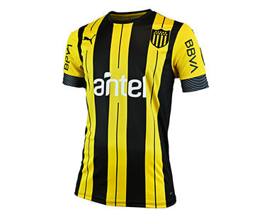 Peñarol Home 2019/2020 Football Shirt. The shirt is manufactured by Puma and the club plays in Uruguay.