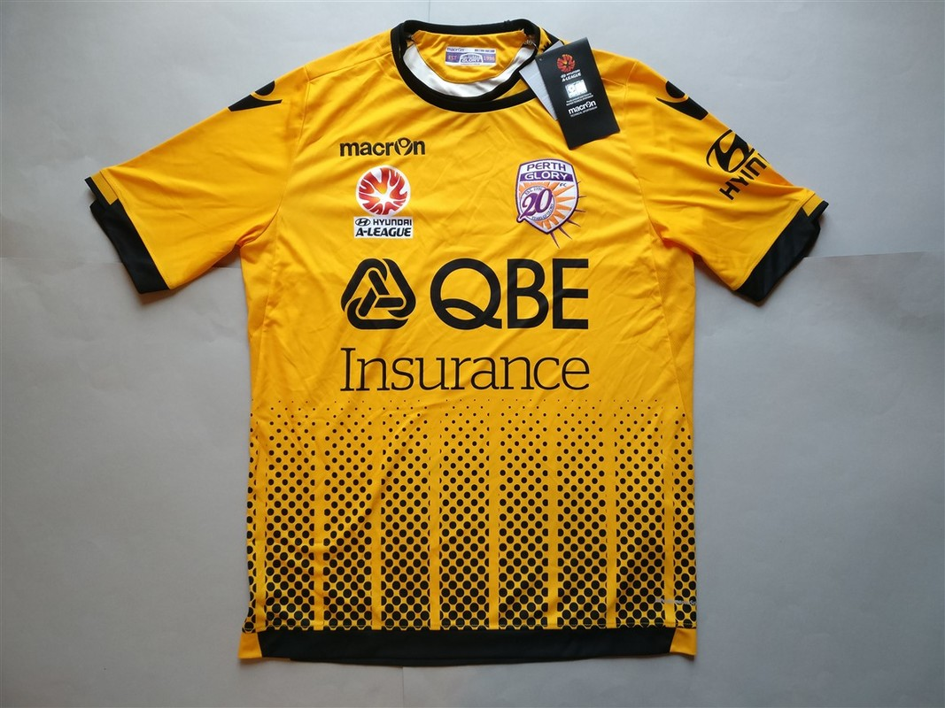 Perth Glory FC Away 2016/2017 Shirt. BNWT. Medium. Club Football Shirts.