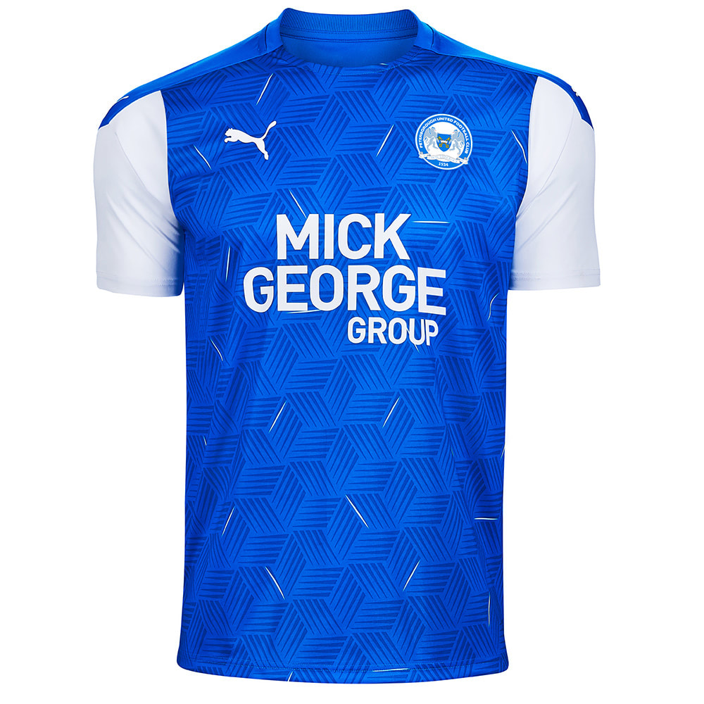 Peterborough United Home 2020/2021 Football Shirt Manufactured By Nike. The Club Plays Football In League One.