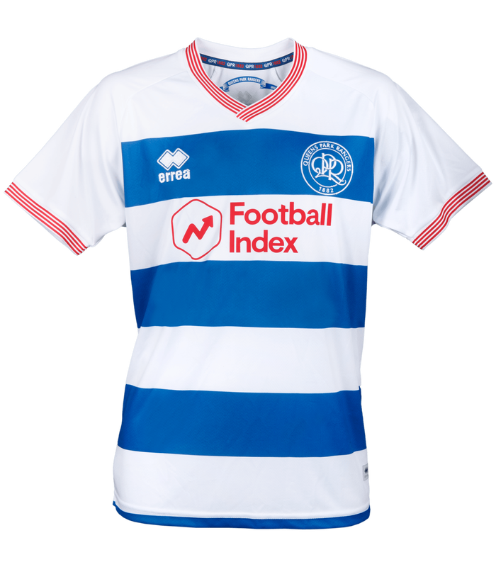 Queens Park Rangers Home 2020/2021 Football Shirt Manufactured By Errea. The Club Plays Football In The Championship.
