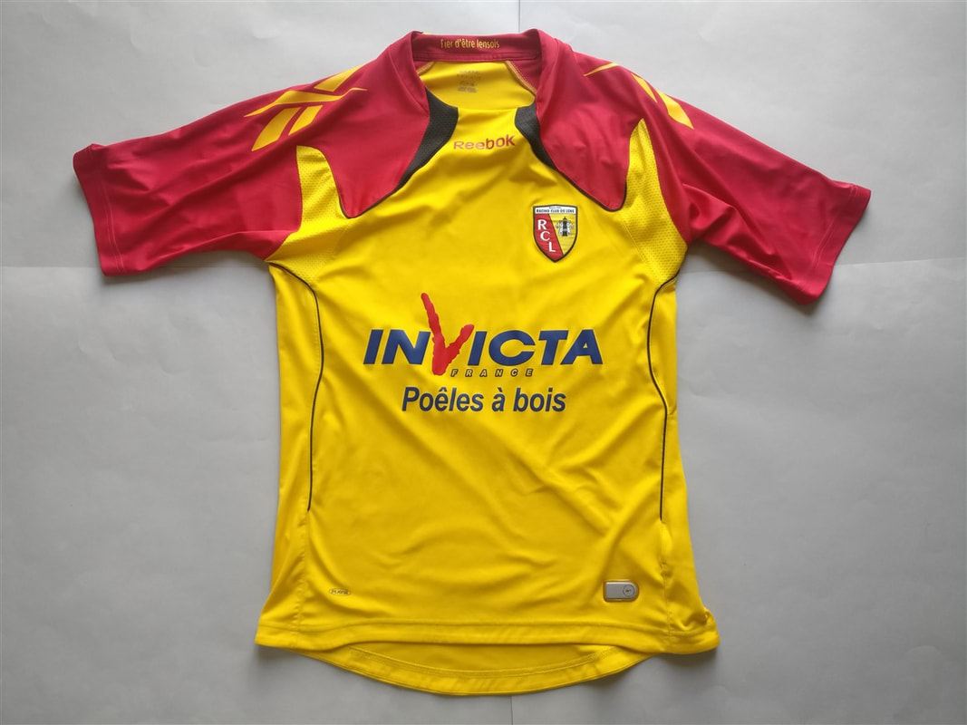 Racing Club De Lens Home 2010 2011 Shirt Club Football Shirts