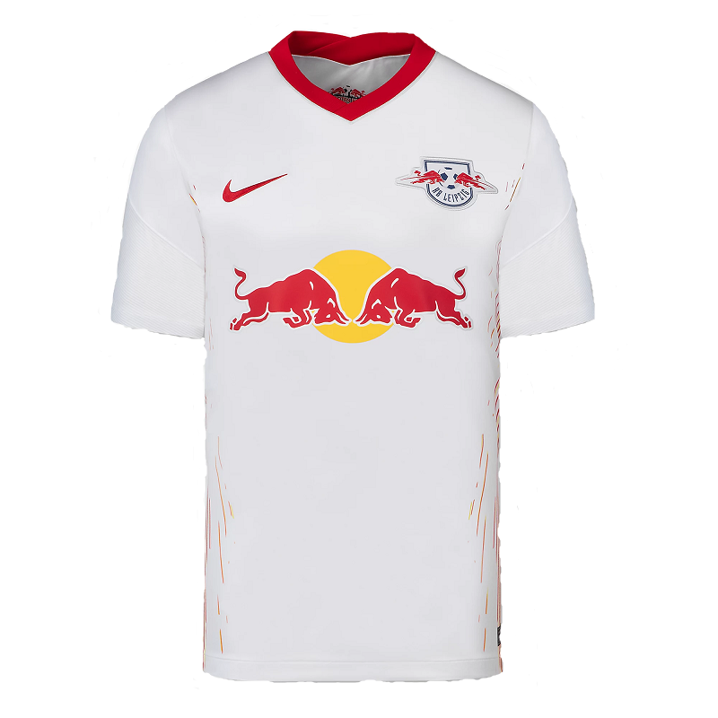RB Leipzig Home 2020/2021 Football Shirt Manufactured By Nike. The Club Plays Football In Germany.