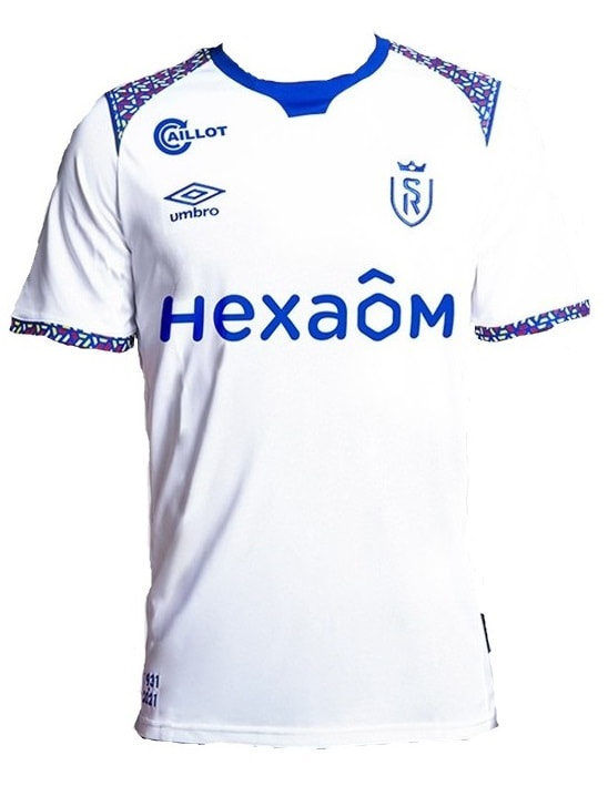 Reims Away  2020/2021 Football Shirt Manufactured By Umbro. The Club Plays Football In France.
