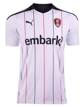 Rotherham United Away 2020/2021 Football Shirt Manufactured By Puma. The Club Plays Football In League One.