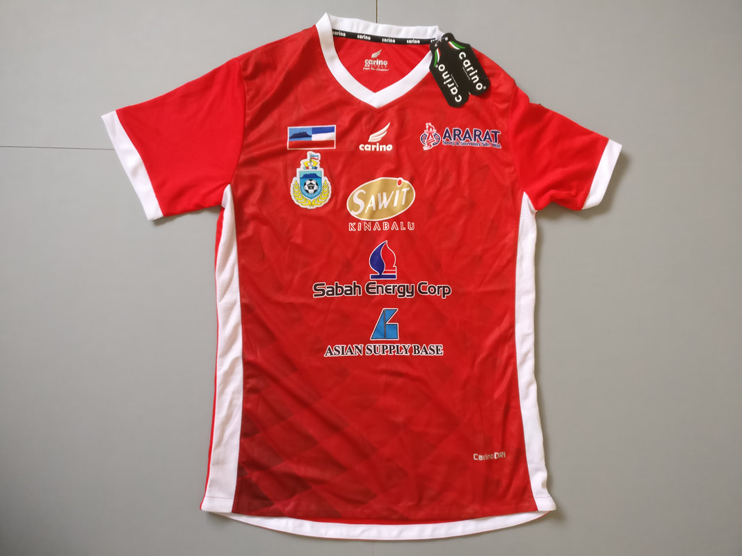 Sabah Football Association Home 2018 Football Shirt Manufactured By Carino. The teams plays football in Malaysia.