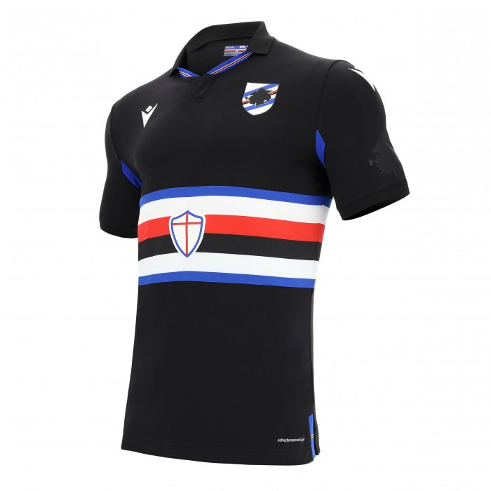 Sampdoria Third 2020/2021 Football Shirt Manufactured By Macron. The Club Plays Football In Italy.