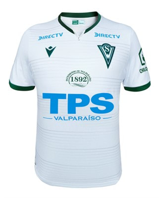 Santiago Wanderers Away 2020 Football Shirt. The shirt is manufactured by Macron and the club plays in Chile.