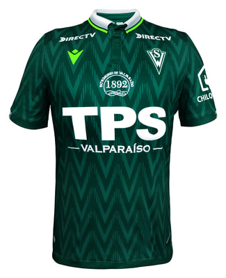 Santiago Wanderers Home 2020 Football Shirt. The shirt is manufactured by Macron and the club plays in Chile.