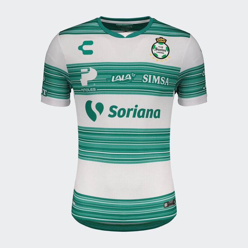 Santos Laguna Home 2020/2021 Football Shirt. The shirt is manufactured by Charly and the club plays in Mexico.