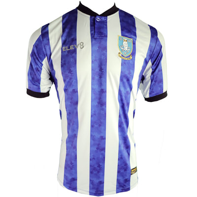 Sheffield Wednesday Home 2020/2021 Football Shirt Manufactured By Elev8. The Club Plays Football In The Championship.