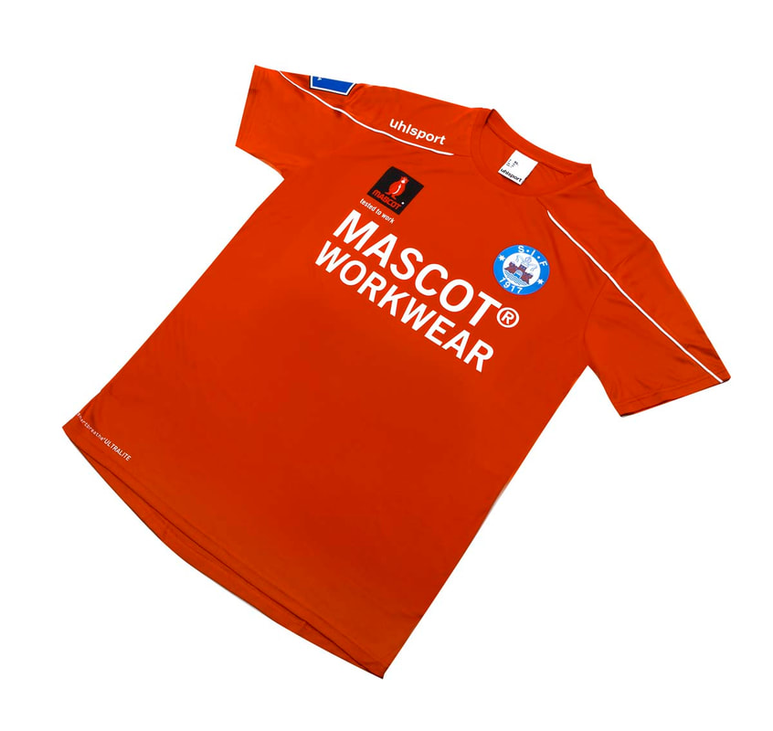 Silkeborg Home 2019/2020 Football Shirt Manufactured By Uhlsport. The Club Plays Football In Denmark.