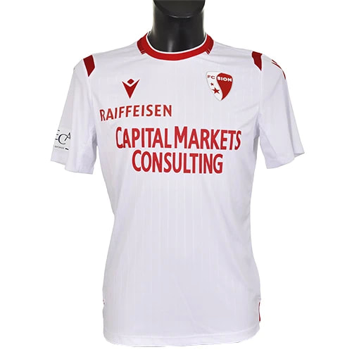 Sion Away 2019/2020 Football Shirt Manufactured By Macron. The Club Plays Football In Switzerland.