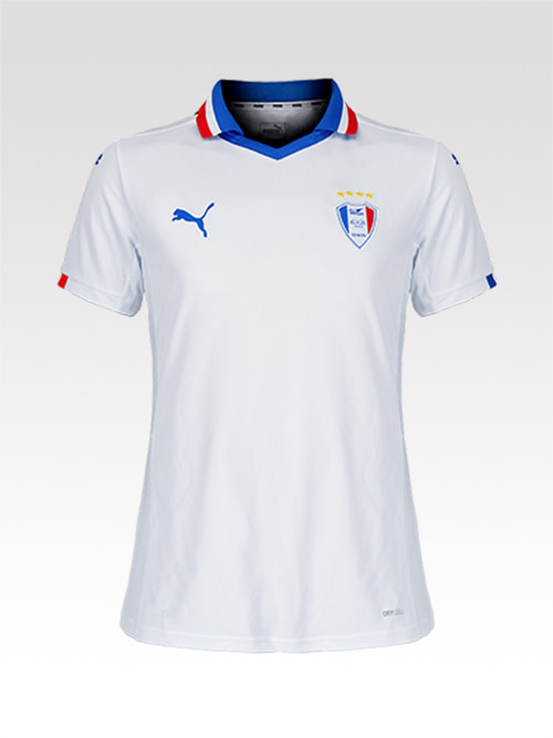 Suwon Samsung Bluewings 2020 Away Football Shirt Manufactured By Puma. The Club Plays Football in South Korea.