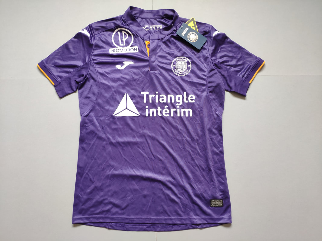 Toulouse Football Club Home 2018/2019 Football Shirt Manufactured By Joma. The Club Plays Football In France.