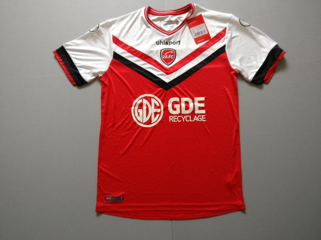 Valenciennes FC Home 2014/2015 Football Shirt Manufactured By Uhlsport. The team plays football in France.