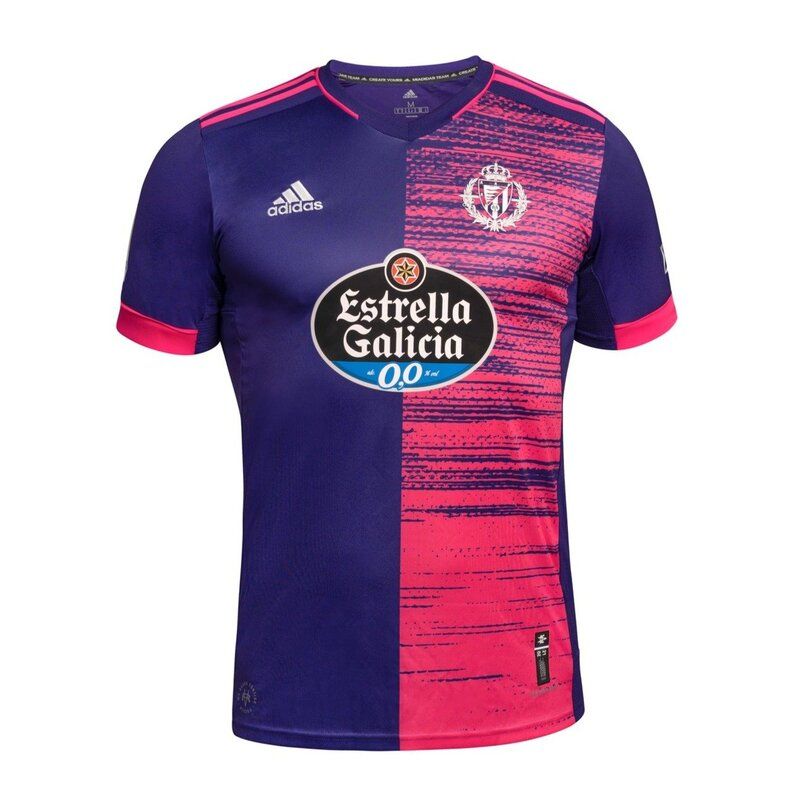 Valladolid Away 2020/2021 Football Shirt Manufactured By Adidas. The Club Plays Football In Spain.