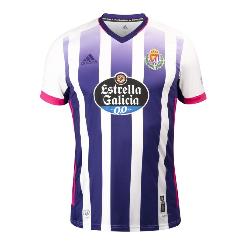 Valladolid Home 2020/2021 Football Shirt Manufactured By Adidas. The Club Plays Football In Spain.
