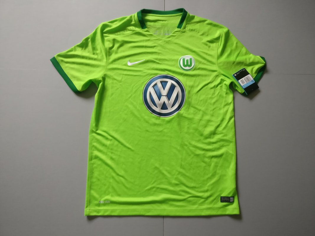 VfL Wolfsburg Home 2016/2017 Football Shirt Manufactured By Nike. The Club Plays Football In Germany.