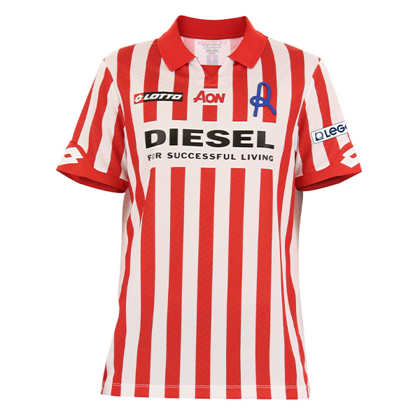 Vicenza Home 2020/2021 Football Shirt Manufactured By Lotto. The Club Plays Football In Italy.